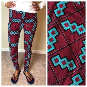NEW LULAROE OS ONE Size Geometric Aztec LEGGINGS